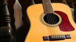 Изгиб гитары желтой