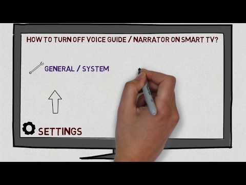 How to Turn Off Voice Guide or Narrator on Smart TV - YouTube
