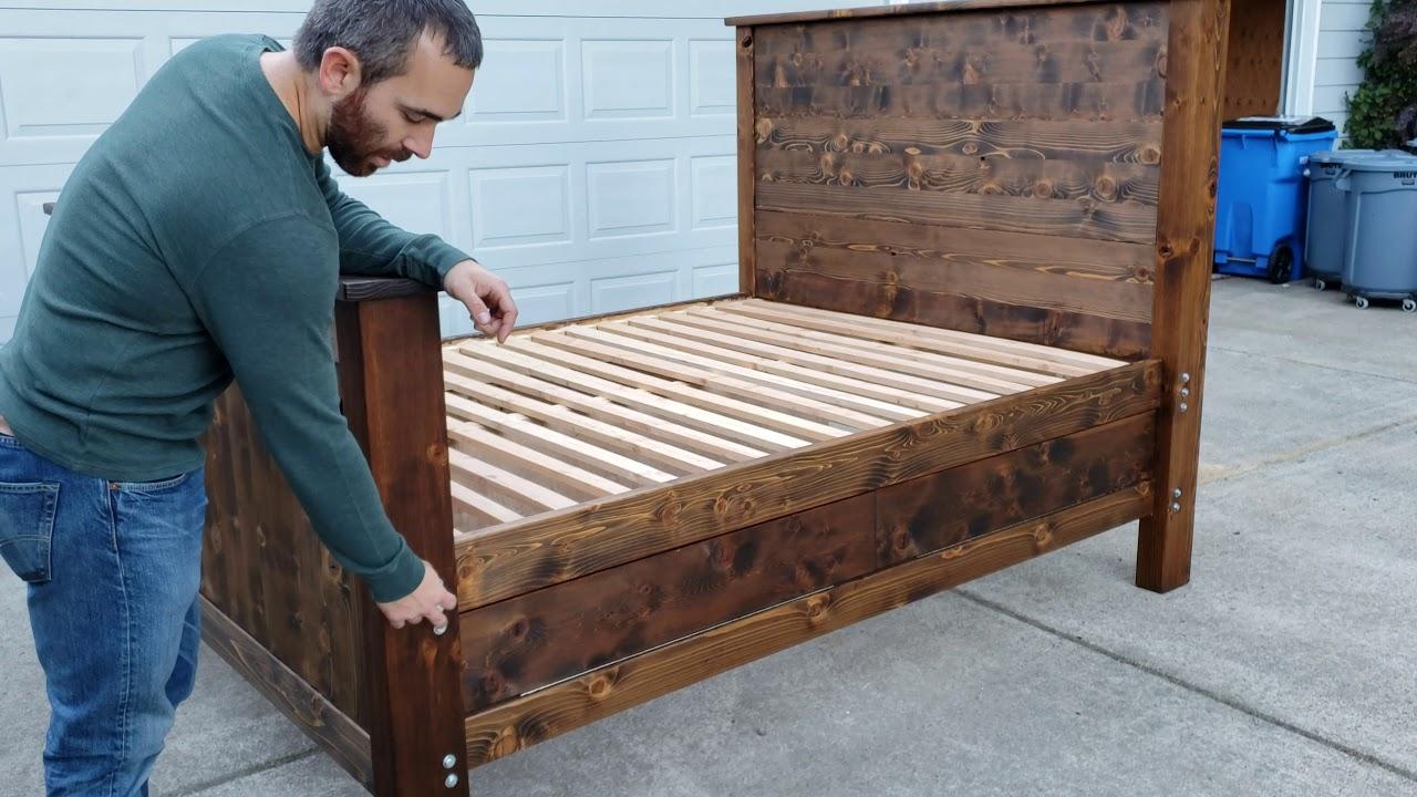 Hidden gun storage bed