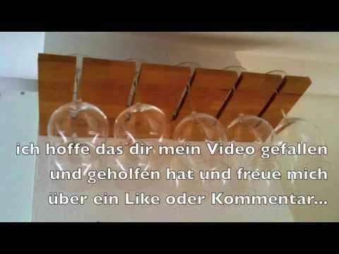 Hervorragend Weingläser Regal selber bauen - YouTube EF92