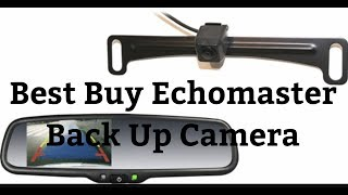Best Buy EchoMaster Back Up Camera Rear View Mirror / Wiring EXPLAINED Installed In Ford F250