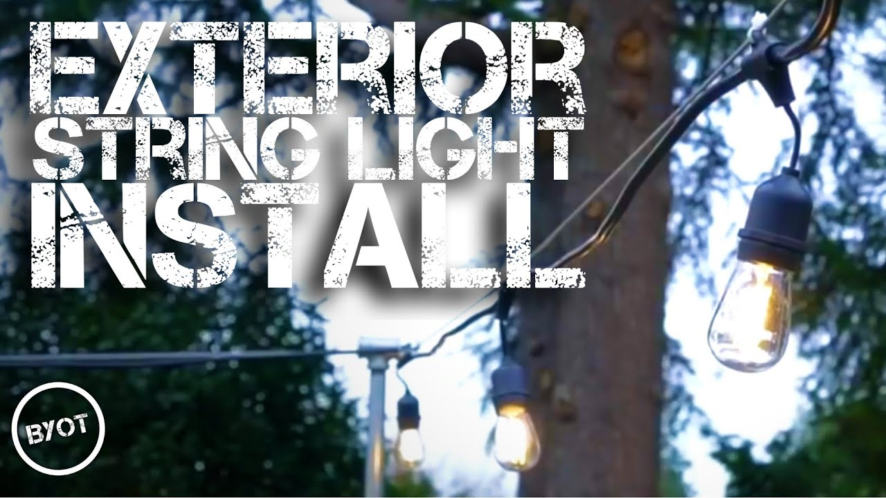 Exterior String Light Install Youtube Wiring Security Lights Back Deck