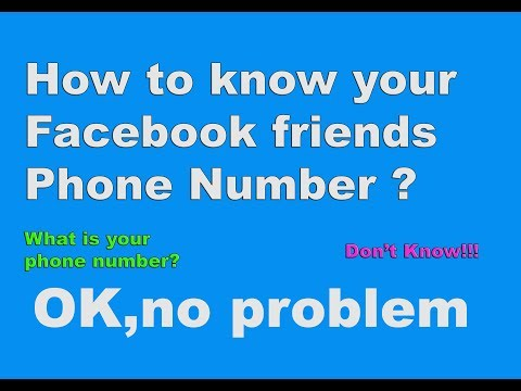 How to find all Facebook friends phone number within a min? from YouTube · Duration:  4 minutes 8 seconds