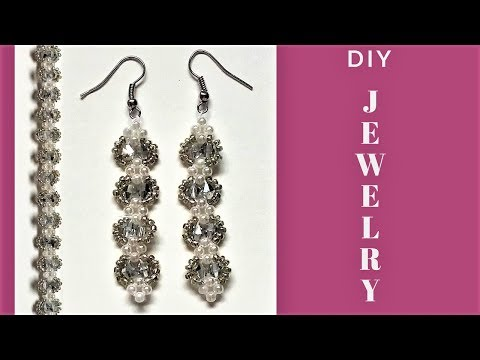 Beading tutorial. Handmade jewelry. DIY Elegant bracelet and earrings-gift ideas.
