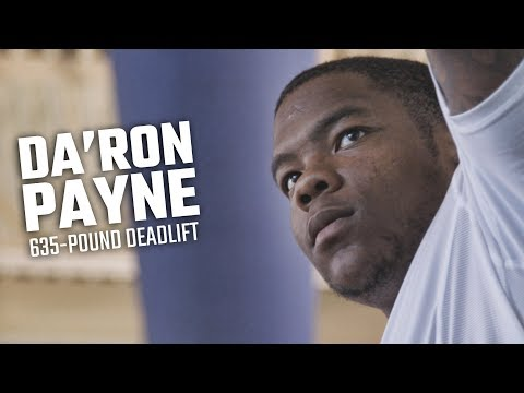 Watch Da'Ron Payne deadlift 635 pounds as he preps for NFL Combine