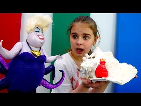Видео для девочек - Ариэль против Урсулы - Мультики Дисней - Видео с YouTube на компьютер, мобильный, android, ios