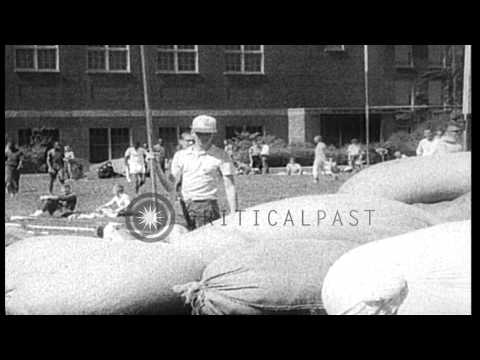 John Pennel pole vaults for newsreel cameramen after setting a new world record o...HD Stock Footage