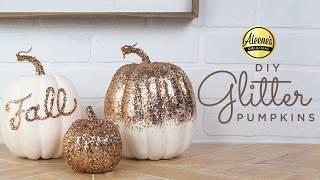 Glitter Pumpkins Tutorial