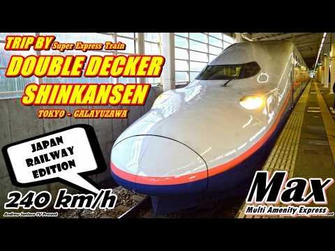 TRIP - NAIK SHINKANSEN DOUBLE DECKER (TINGKAT) KE GUNUNG !! MAX TANIGAWA TOKYO-GALA YUZAWA [JR]