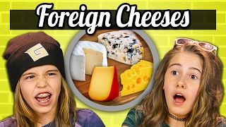 KIDS EAT FOREIGN CHEESES! | Kids Vs. Food