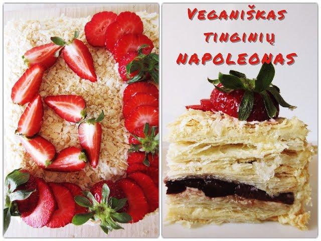 #receptas - Tinginių tortas Napoleonas / Vegan Pipiras