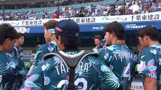 三木かと思いきや江村!試合前円陣にカメラが接近【広報カメラ】