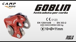 Anticaduta per Corda GOBLIN Video