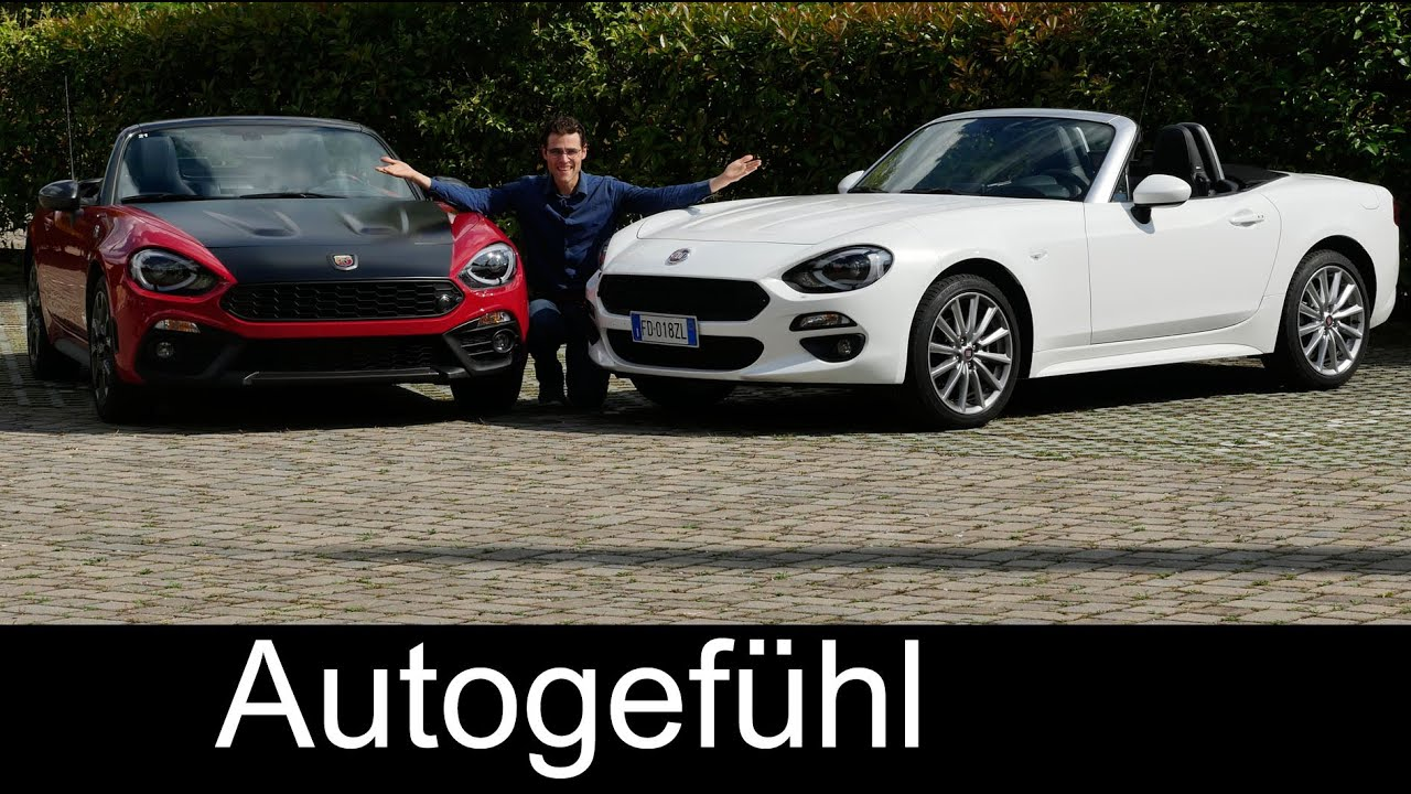 fiat 124 spider vs abarth 124 spider full review test. Black Bedroom Furniture Sets. Home Design Ideas