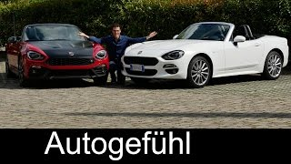 Fiat 124 Spider vs Abarth 124 Spider FULL REVIEW test driven comparison all-new neu 2017 & vintage