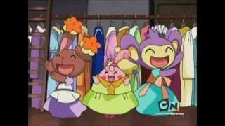 buneary aipom and happiny in dresses clip