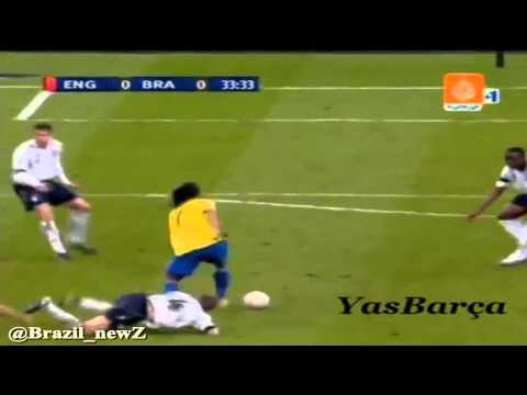 Ronaldinho vs Gerrard Nutmeg and go down Steven