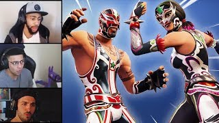 STREAMERS REACT TO *NEW* MASKED FURY & DYNAMO SKINS! + PILEDRIVER AXE! | Fortnite Highlights #73