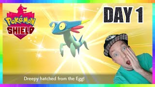 SHINY DREEPY HUNTING DAY 1! Pokemon Sword & Shield Masuda Method Egg Hatching!