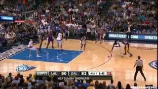 Kobe Bryant hits 3 incredible shots in a row vs Dallas! WOW!