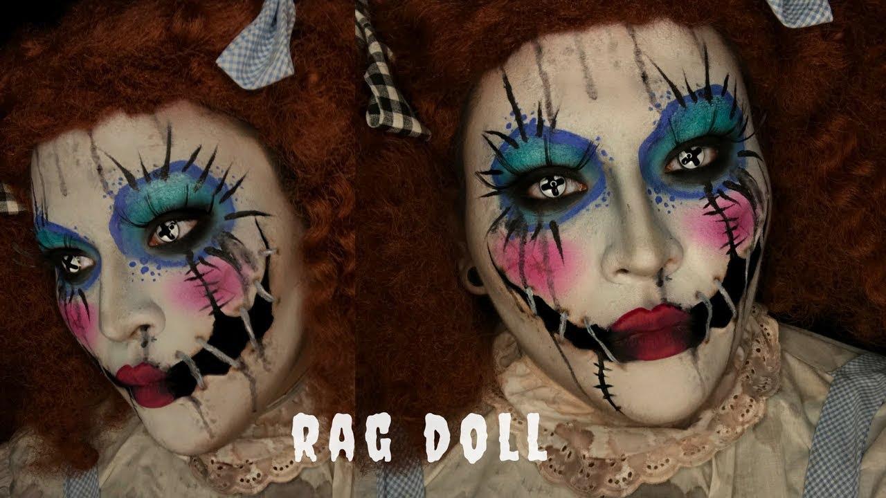 Rag Doll Halloween Costume Makeup Tutorial Youtube