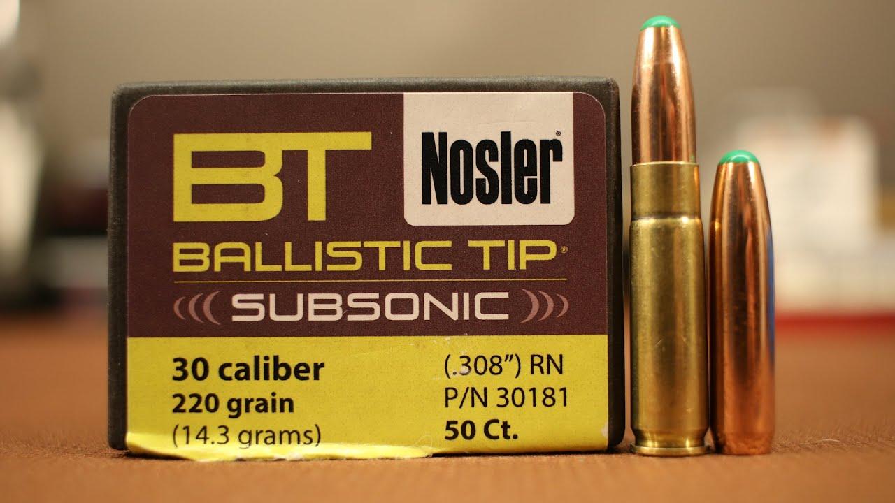 300 Blackout - 220gr Nosler Ballistic Tip Subsonic