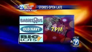 Store hours: Target, Walmart, Kmart, Kohls, Toys R Us