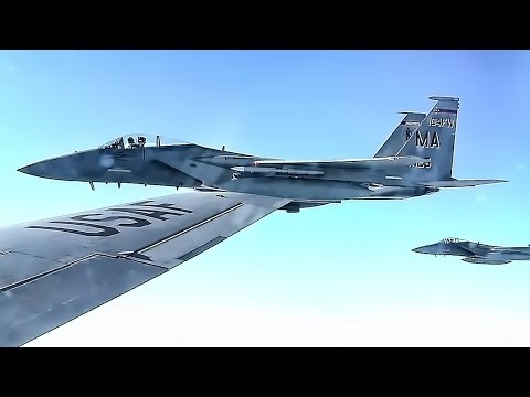 Iceland Airspace Police • American F-15 Eagles Are On Patrol