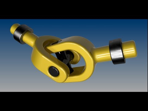 Universal joint - CATIA V5 Tutorial (part design, assembly, simulation)