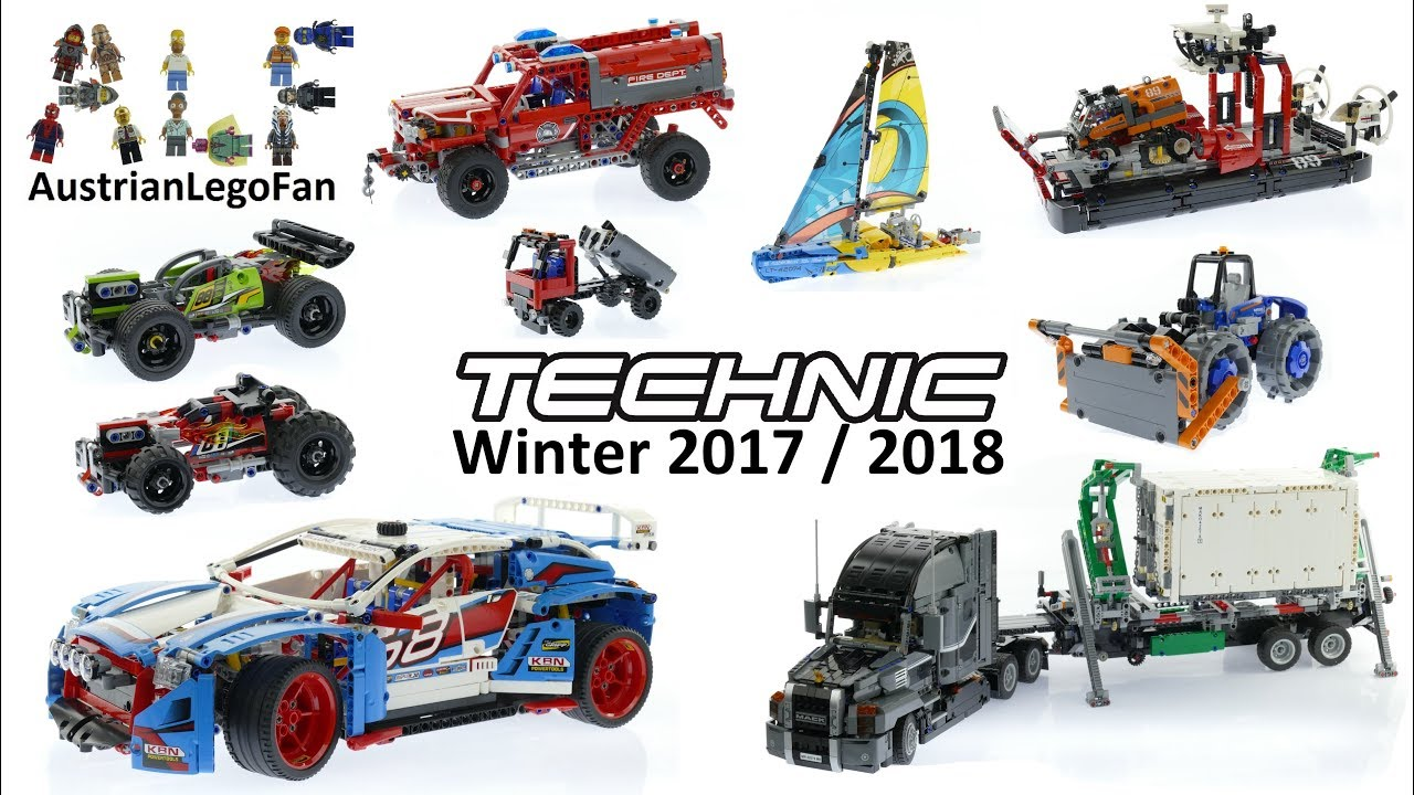 all lego technic sets winter 2017 2018 lego speed build review youtube. Black Bedroom Furniture Sets. Home Design Ideas