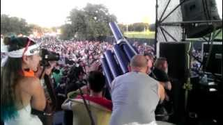 Ray Cappo (youth of today) fires Taco Cannon at FunFunFunFest7