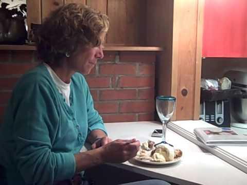 Lynn Eating Apple Pie with Ice Cream