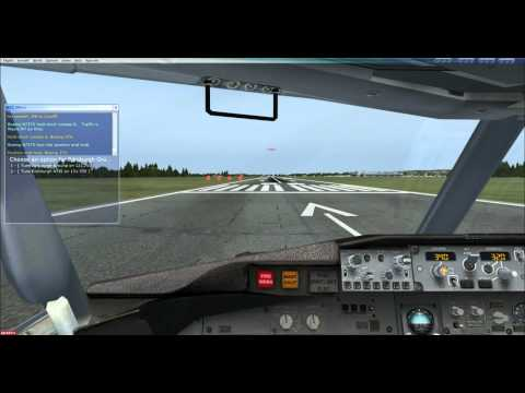 Flight Sim X with FS Cabin Crew Installed & Sound FX