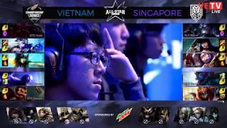[CHUNG KẾT ALLSTAR GPL 2017] VIỆTNAM VS SINGAPORE GAME 3 HIGHLIGHTS