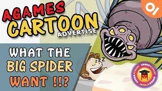 Ce que la Grosse Araignée voulez! (AG dessin animé de la publicité)