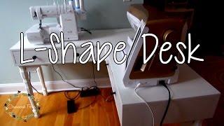How to make an L-shaped Corner Desk Sewing Setup