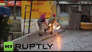 Turkey: Clashes erupt between police and pro-Kurdish protesters in Istanbul