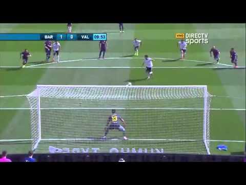 Barcelona 2 - 0 Valencia LIGA BBVA - Directv sports