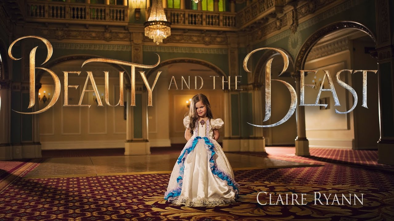 Beauty And The Beast  Tale As Old As Time  Claire Ryann (just Turned 4  Years Old) And The Crosbys
