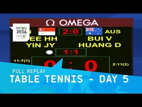 Table Tennis - Day 5 Mixed Australia V Singapore | Full Replay | Nanjing 2014 Youth Olympic Games