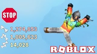 I BROKE OVER 1 MILLION BONES!! | Broken Bones IV | ROBLOX