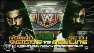 Roman Reigns Vs Set Rolling - Wwe Championship Match At Money In The Bank 2016 ( Gameplay )
