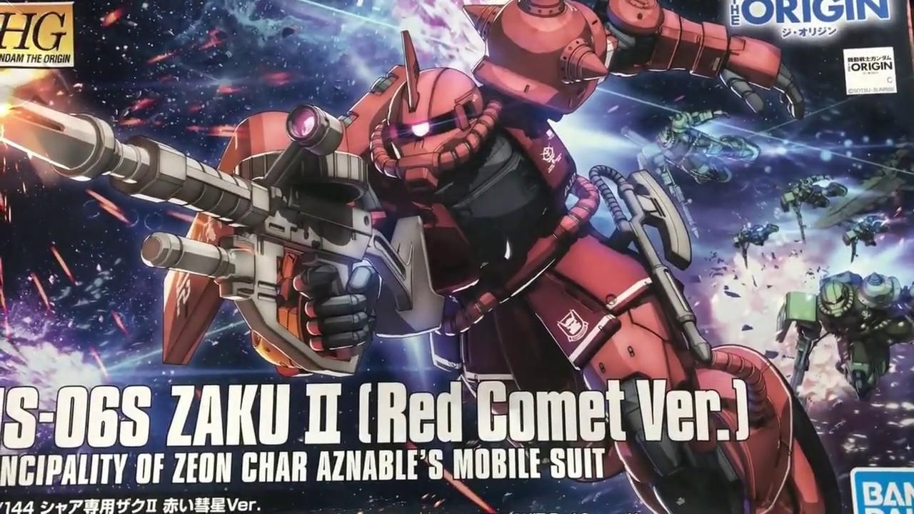 Download MS-06S ZAKU 2 ( Red Coment Ver.) Model kit: timelapse Basic build