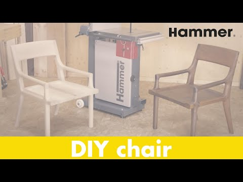DIY designer chair, made with the HAMMER® N4400 bandsaw