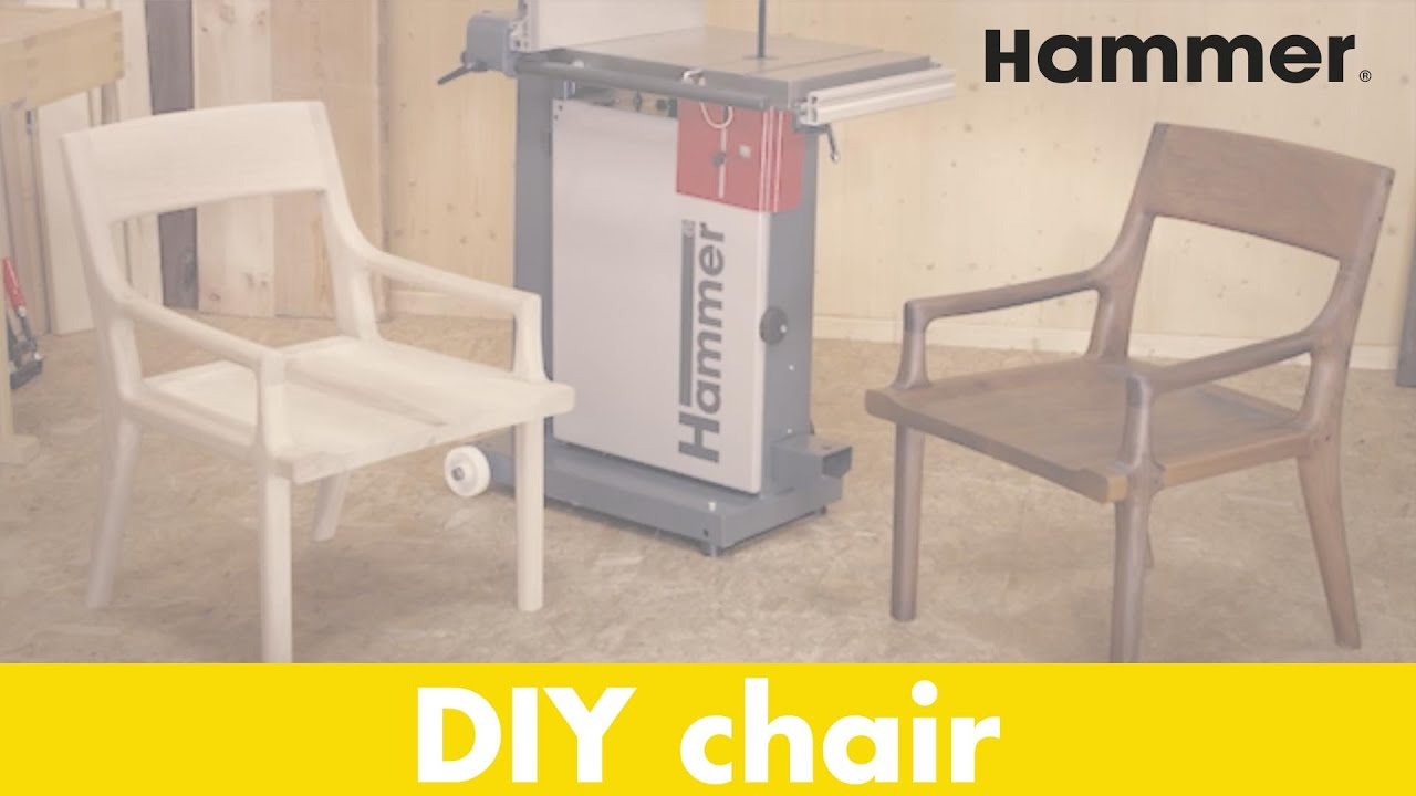 Diy Designer Chair Made With The Hammer 174 N4400 Bandsaw