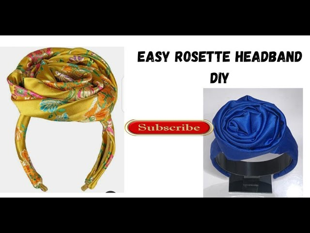 Ruffle headband rosette headband