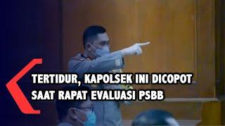 Kapolda Jatim Copot Kapolsek yang Tertidur saat Rapat Evaluasi PSBB