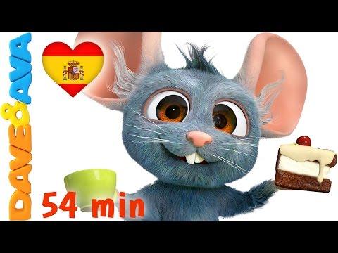 🐹 Videos Infantiles   Hickory Hickory Dock   Сanciones Infantiles en Español de Dave y Ava 🐹