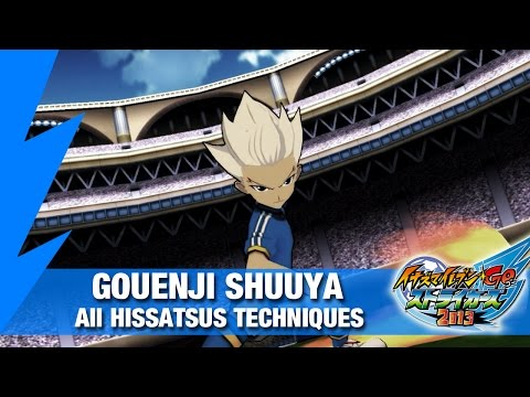 Gouenji Shuuya - All Hissatsus Techniques | Inazuma eleven GO Strikers 2013