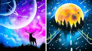 Amazing drawing tricks timestamps: 00:12 how to draw easy with acrylic paint 02:28 a line 03:26 diy master pastel chalk 08:32 stunning patt...